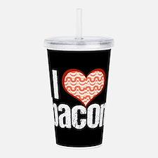 I Heart Bacon Acrylic Double-wall Tumbler