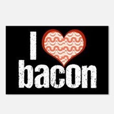I Heart Bacon Postcards (Package of 8)
