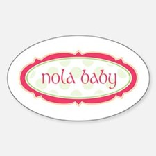 NOLA Baby Oval Decal