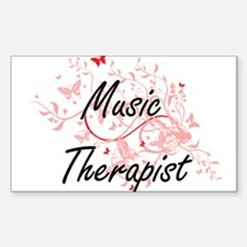 Music Therapist Artistic Job Design with B Decal