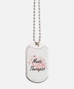 Music Therapist Artistic Job Design with Dog Tags