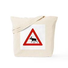Caution Elks, Norway Tote Bag
