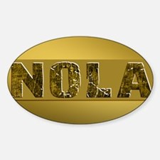 NOLA BLACK AND GOLD 4 Decal