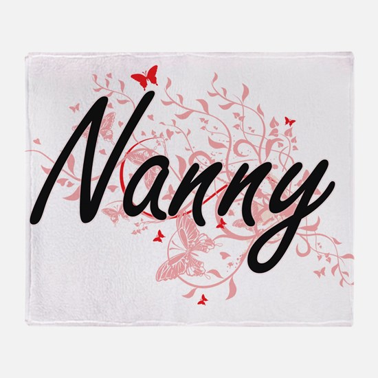 Nanny Artistic Job Design with Butte Throw Blanket