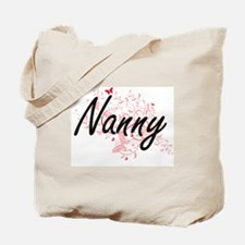 Nanny Artistic Job Design with Butterflie Tote Bag