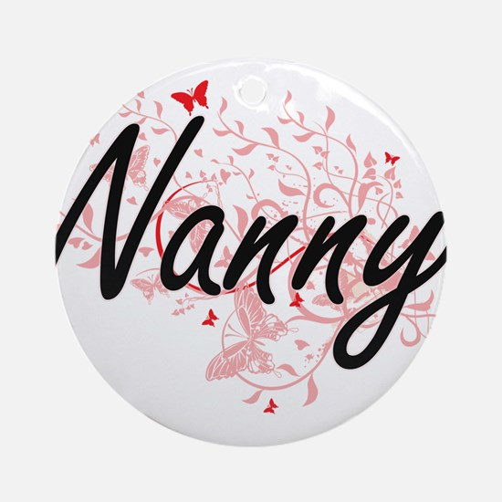 Nanny Artistic Job Design with Butt Round Ornament