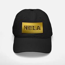 NOLA BLACK AND GOLD 4 Baseball Hat