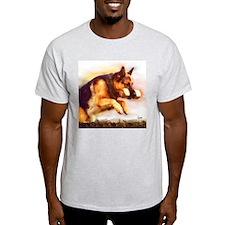 German Shepherd Jumping T-Shirt
