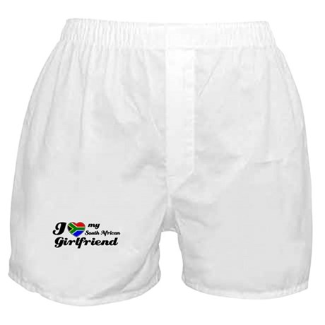 I love my South african Girlfriend Boxer Shorts