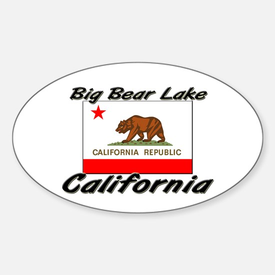 Big Bear Lake California Oval Decal