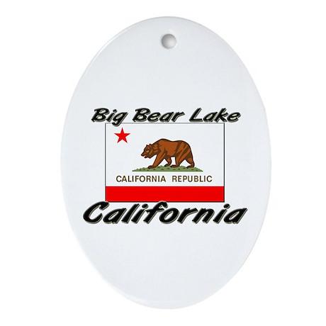 Big Bear Lake California Oval Ornament