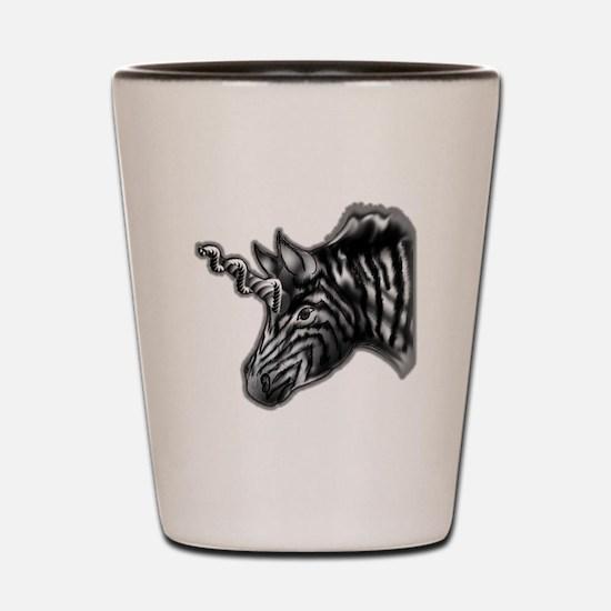 dark Zebra Shot Glass