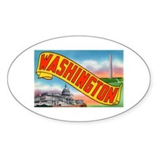 Washington D.C. Greetings Oval Decal