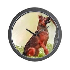 German Shepherd Protect 1 Wall Clock