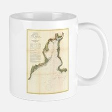 Vintage Map of New Haven Harbor (1872) Mugs