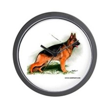German Shepherd Obedience Sta Wall Clock