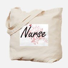 Nurse Artistic Job Design with Butterflie Tote Bag
