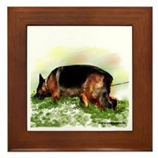 German Shepherd Tracking Framed Tile