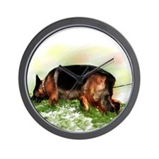 German Shepherd Tracking Wall Clock