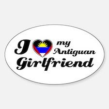 I love my Antiguan Girlfriend Oval Decal
