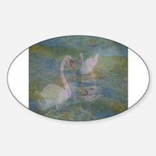 Swans At Play Decal