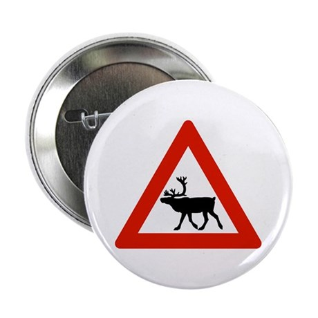 Caution Reindeers, Norway Button