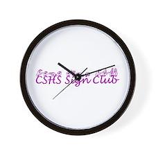 CSHS Sign Club Wall Clock