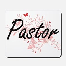 Pastor Artistic Job Design with Butterfl Mousepad