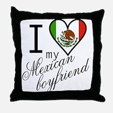 I Love Heart my Mexican Boyfr Throw Pillow