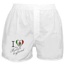 I Love Heart my Mexican Boyfr Boxer Shorts