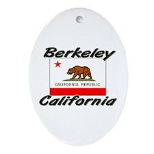 Berkeley California Oval Ornament
