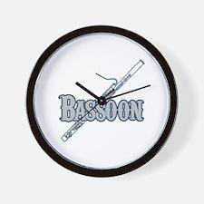 Bassoon Woodwind Band Member Wall Clock