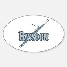 Bassoon Woodwind Band Member Oval Decal