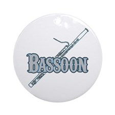 Bassoon Woodwind Band Member Ornament (Round)