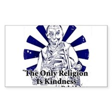 The Only Religion is Kindness Sticker (Rectangular