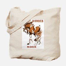 Paint Horses Rock Tote Bag