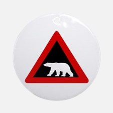 Beware of Polar Bears, Norway Ornament (Round)