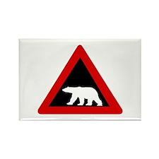 Beware of Polar Bears, Norway Rectangle Magnet