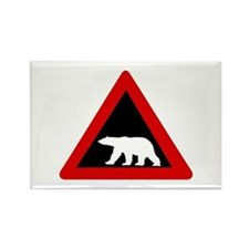 Beware of Polar Bears, Norway Rectangle Magnet (10