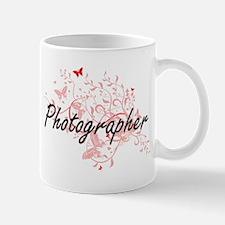 Photographer Artistic Job Design with Butterf Mugs