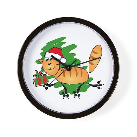 Santa Kitty Wall Clock