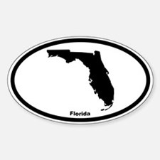 Florida State Outline Oval Decal