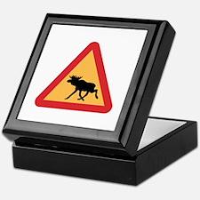 Caution Elks, Sweden Keepsake Box