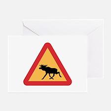 Caution Elks, Sweden Greeting Cards (Pk of 10)