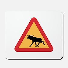Caution Elks, Sweden Mousepad