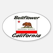 Bellflower California Oval Decal