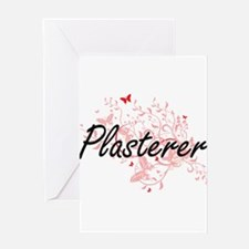 Plasterer Artistic Job Design with Greeting Cards