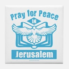 Pray for Jerusalem Tile Coaster