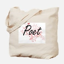 Poet Artistic Job Design with Butterflies Tote Bag