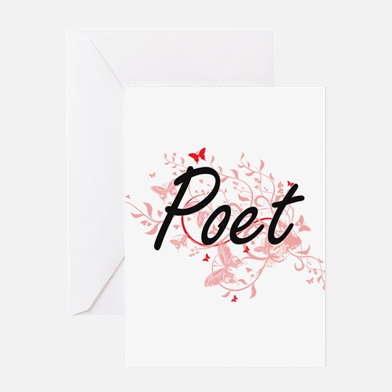 Poet Artistic Job Design with Butte Greeting Cards